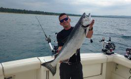 First big salmon in Leland